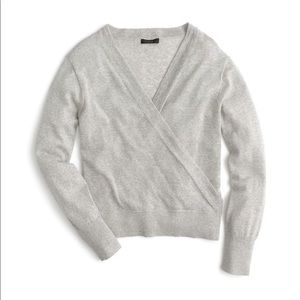 Like new J. Crew Merino Wool Wrap Sweater XS